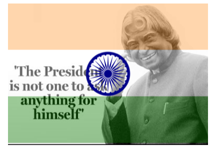 A tribute to APJ Abdul Kalam