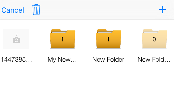 Folders Count number