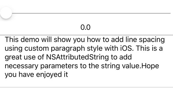 iOS Add spacing to line of text - Swift