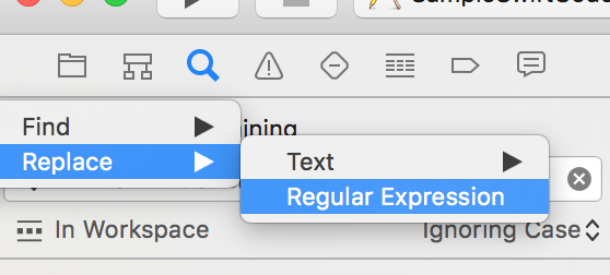 Search and Replace in Xcode with Regular Expressions